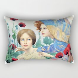 Thomas Cooper Gotch - The Message - Digital Remastered Edition Rectangular Pillow