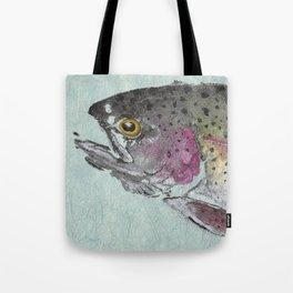 Rainbow Trout - Gyotaku Tote Bag