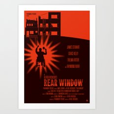 Alfred Hitchcock's Rear Window Art Print