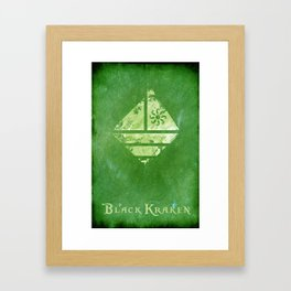 Black Kraken Designs - Green Poster Framed Art Print