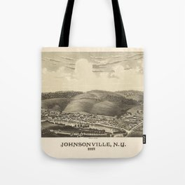 Aerial View of Johnsonville, New York (1887) Tote Bag