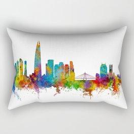 Seoul Skyline South Korea Rectangular Pillow