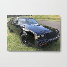 1987 Grand National with stock black rims option Metal Print