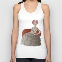 sofa Tank Tops featuring woman in a sofa by Rosa Brualla