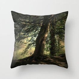 Forest Wakening. Throw Pillow