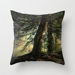 Forest Wakening. Throw Pillow