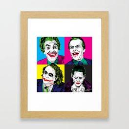 Pop Quad: The Joker Framed Art Print