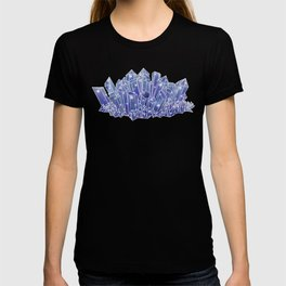 Blue/Purple Crystal Cluster T-shirt