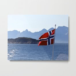 Flag of Norway Metal Print