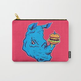 Rhino With A Cheeseburger Carry-All Pouch