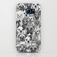 just dogs coral mint Galaxy S6 Slim Case