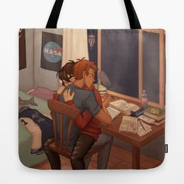 Late night studying Tote Bag