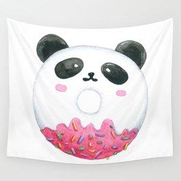 Panda Donut Art Work Wall Tapestry