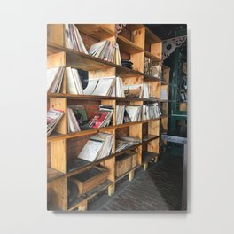 Albums On The Shelf Metal Print