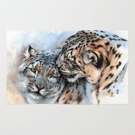 Snow Leopards - Unconditionally Rug