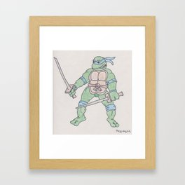 Teenage Mutant Ninja Turtle Framed Art Print