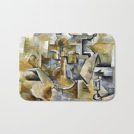 Georges Braque Violin and Candlestick Bath Mat