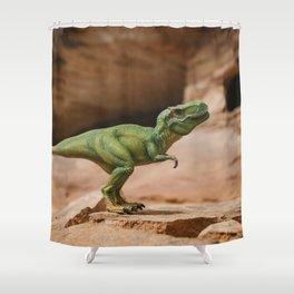 Dinosaur - T-Rex at Home Shower Curtain