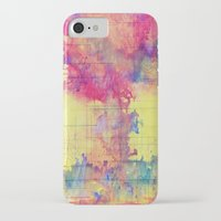 world maps iPhone & iPod Cases featuring maps by Emily Tumen