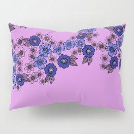 blossom of Flowers blue - violet Pillow Sham