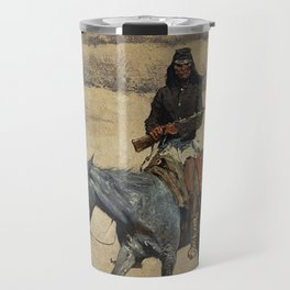 "Frederic Remington Western Art ""Apache Scout"" Travel Mug"