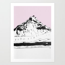 a mountain Art Print