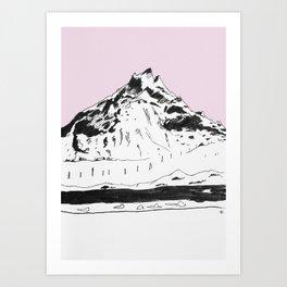 a mountain Art Print