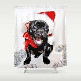 Xmas Frenchie II Shower Curtain