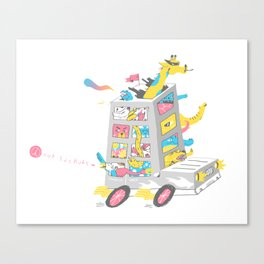 Zoo on Wheels Canvas Print