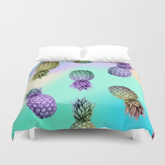 Pineapple Glow Duvet Cover By Simple Luxury Mix And Match
