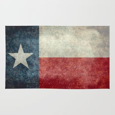 Texas state flag, Vertical retro vintage version Rug