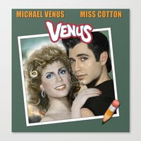 grease Canvas Prints featuring Grease by House of Venus