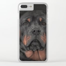 Drawing dog rottweiler 3 Clear iPhone Case