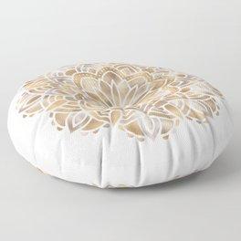 Mandala Multi Metallic in Gold Silver Bronze Copper Floor Pillow