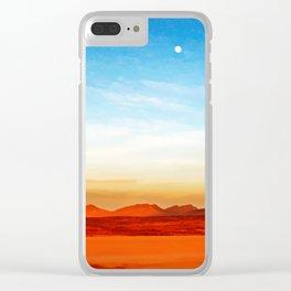 Bolivian Road Landscape Clear iPhone Case