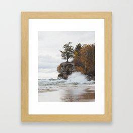 Chapel Rock   Pictured Rocks National Lakeshore, Michigan   John Hill Photography Framed Art Print