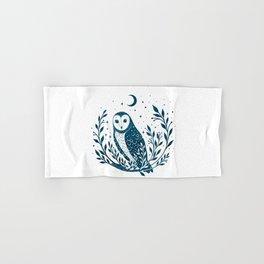 Owl Moon - Blue Hand & Bath Towel