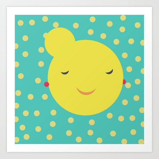 miss little sunshine Art Print