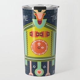 Tic Tock Cuckoo Clock Travel Mug