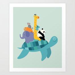 Travel Together Art Print