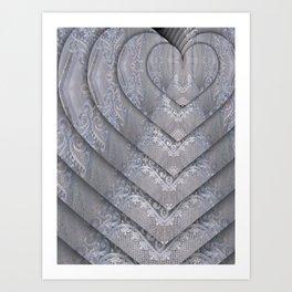 tracery fractal heart Art Print