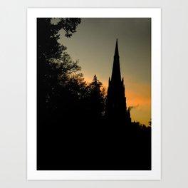 Clumber sunset Art Print