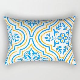 Oriental Pattern - Blue Rectangular Pillow