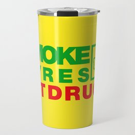 SMOKE TYRES NOT DRUGS v1 HQvector Travel Mug