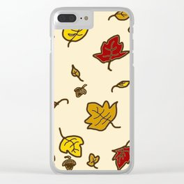 Autumn Leaves - Ivory Clear iPhone Case