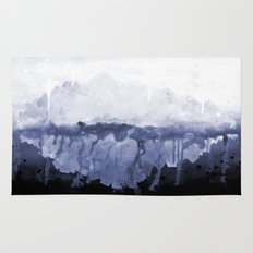 Paint 5 abstract water ocean arctic iceberg nature ocean sea abstract art drip waterfall minimal  Rug