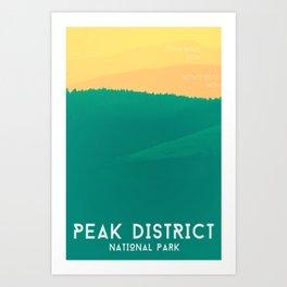 Rolling Hills Peak District Poster Art Print