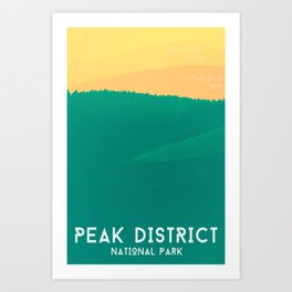Rolling Hills Peak District Poster Art Print