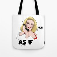 clueless Tote Bags featuring Clueless by Steven Crissey