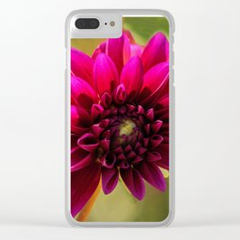 Pink Dahlia Clear iPhone Case